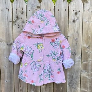 Carters Baby Floral Hooded Button Front Jacket